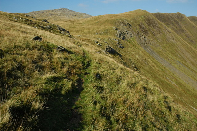 File:Footpath on Gwaun y Llwyni - geograph.org.uk - 1605310.jpg