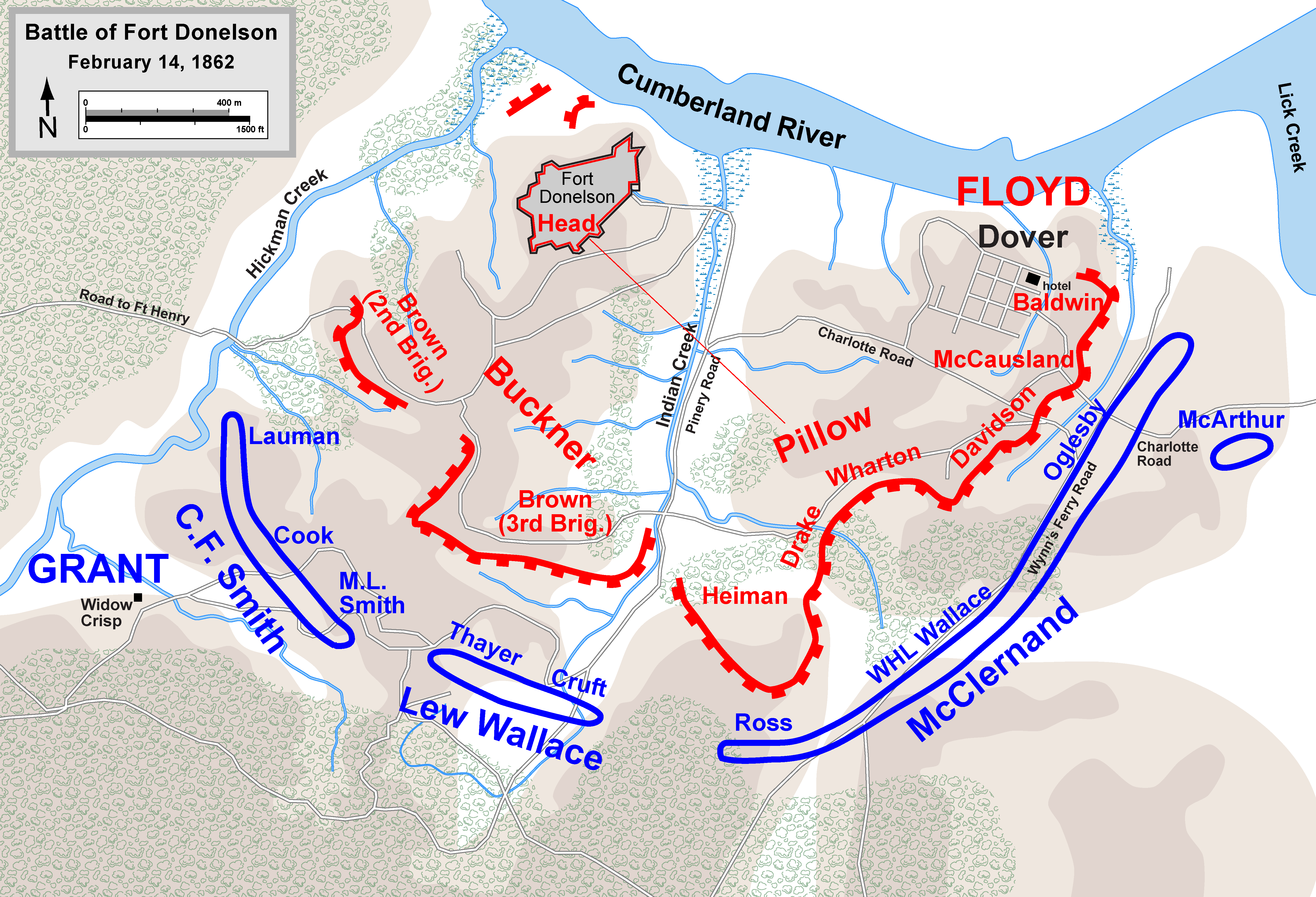 FileFort Donelson Febpng Wikimedia Commons - Ft donelson river on us map