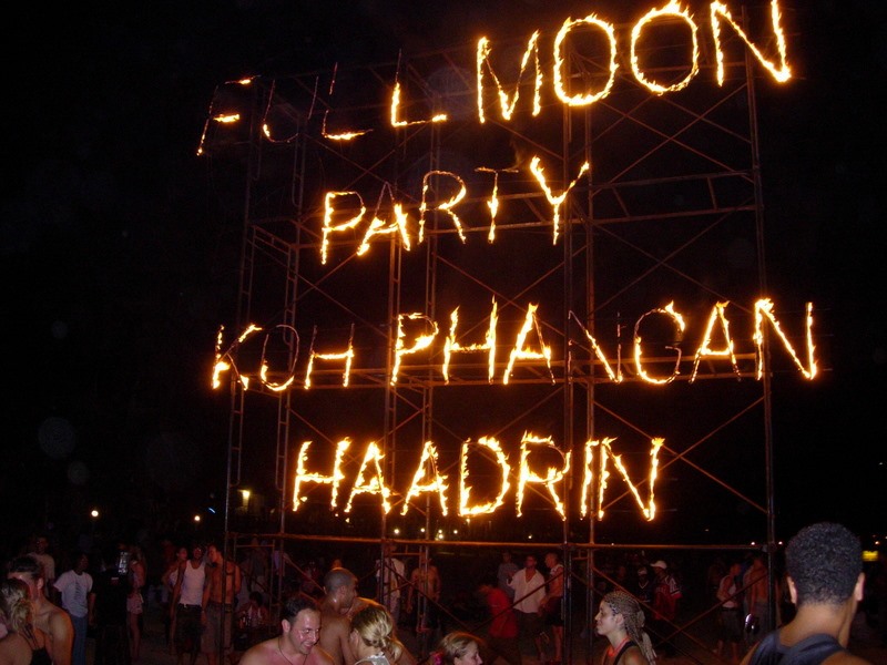 Colourful Full Moon Party