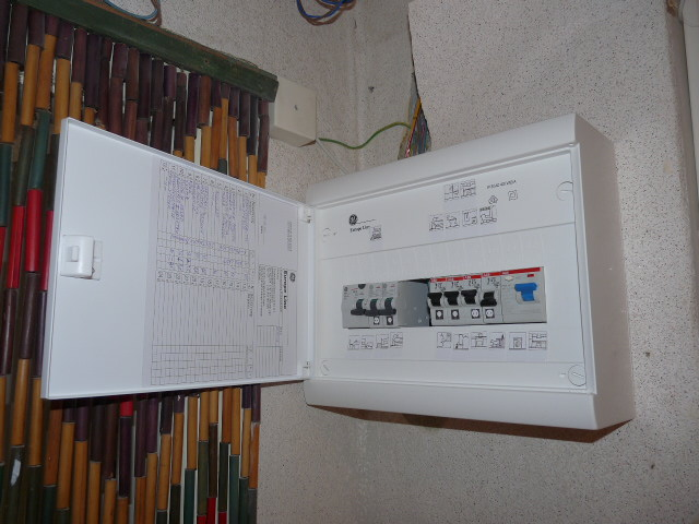 File fuse box fixing is ready jpg wikimedia commons - Boite pour cacher les cables ...