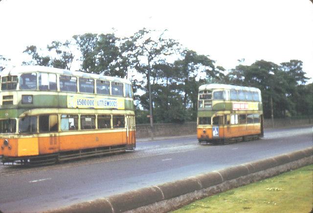 File:Glasgow trams at Auchenshuggle terminus jpg - Wikimedia Commons
