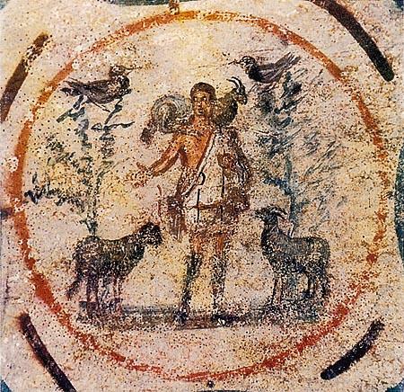 Good Shepherd (The Catacombs of Saint Callistus, Rome).