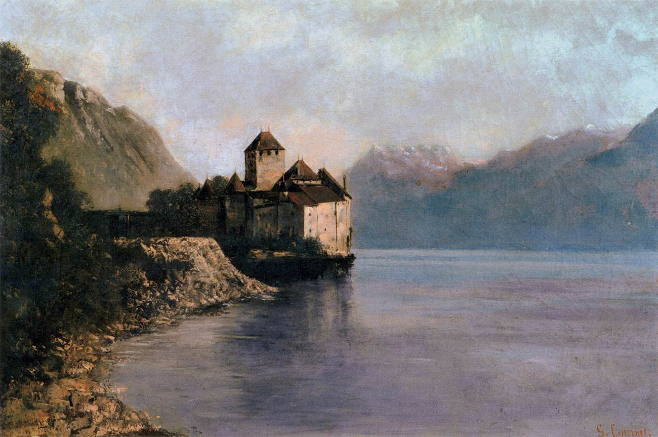 File:Gustave Courbet - The Château de Chillon - WGA05519.jpg - Wikimedia Commons
