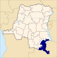 Svenska: Haut-Katangas läge i Kongo-Kinshasa.