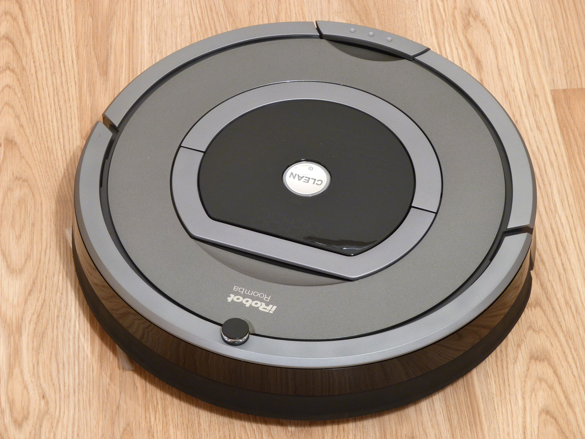 iRobot Romba 780 has a cliff sensor that means it won't throw itself down steep drops
