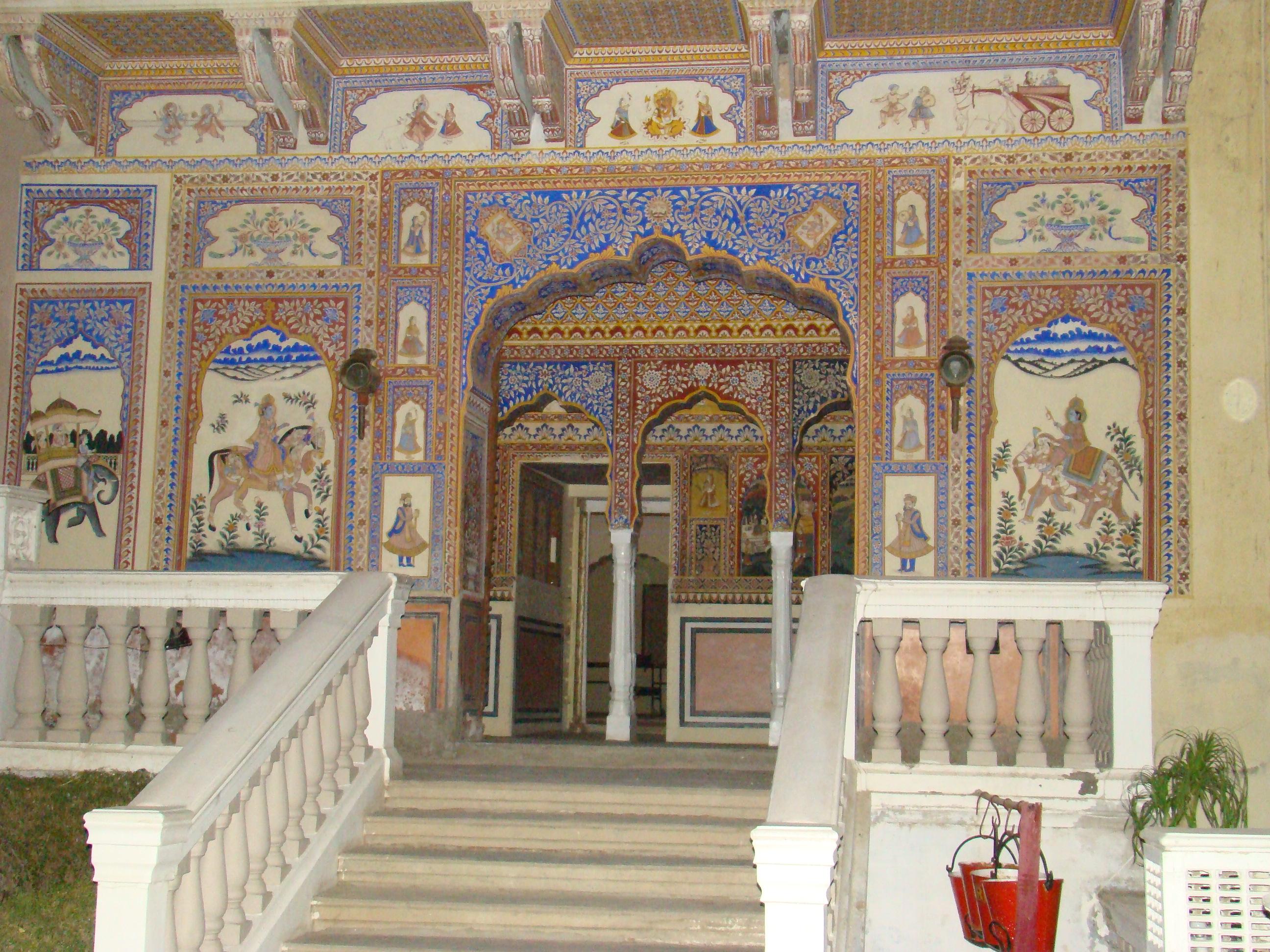Mandawa India  city photos : Description India Mandawa fuerte palacio 03 ni