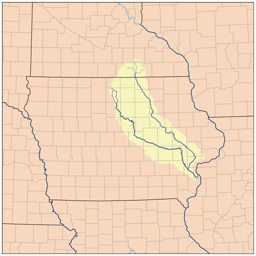 Cedar River Iowa River Wikipedia - Iowa river map