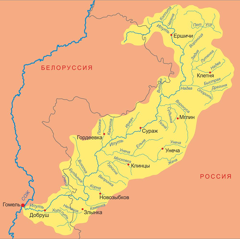 Куда течет река в брянске схема фото 66
