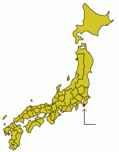 Map of Japanese provinces with province highlighted