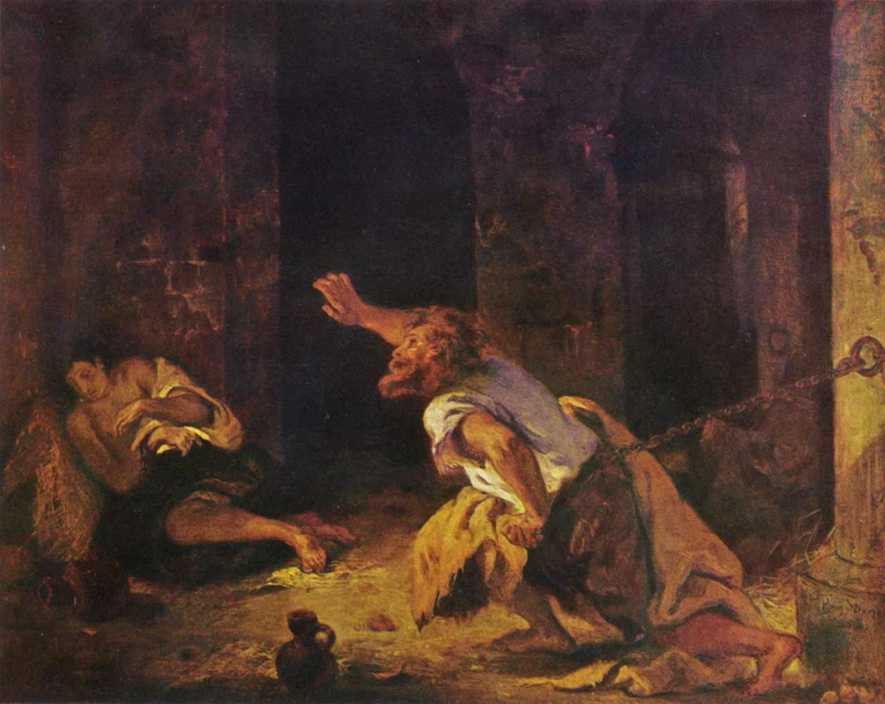 Le Prisonnier de Chillon, illustration d'un poeme de Lord Byron (Eugene Delacroix).jpg