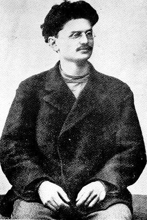 Leon Trotsky in exile in Siberia in 1900