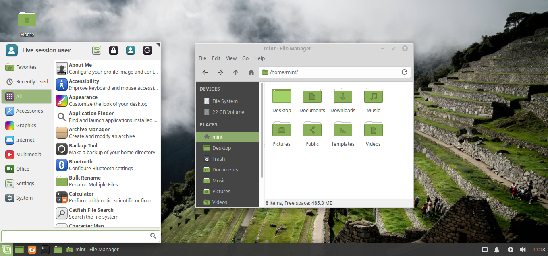 File:Linux Mint XFCE Desktop png - Wikimedia Commons