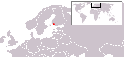 Location of Turku in Northern Europe