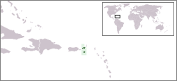 Location of Danish West Indies