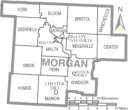Union Ohio Map.File Map Of Morgan County Ohio With Municipal And Township Labels