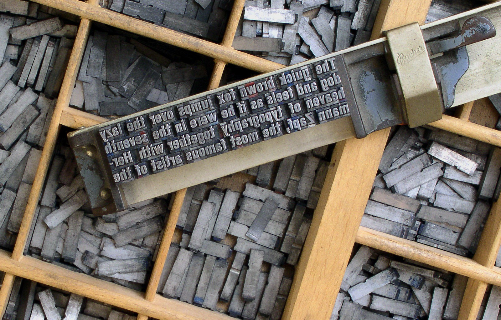 Moveable Type in a Composing Stick