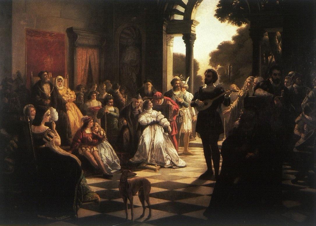 Mirecki - Wprowadzenie muzyki włoskiej na dwór Zygmunta I 1874.jpg
