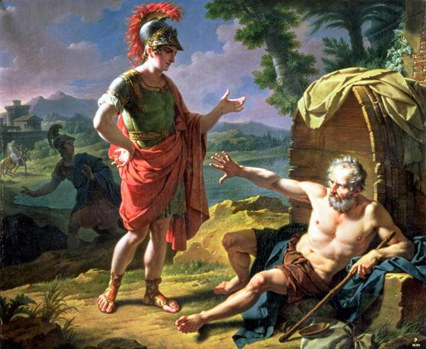 Monsiau - Alexandre et Diogène