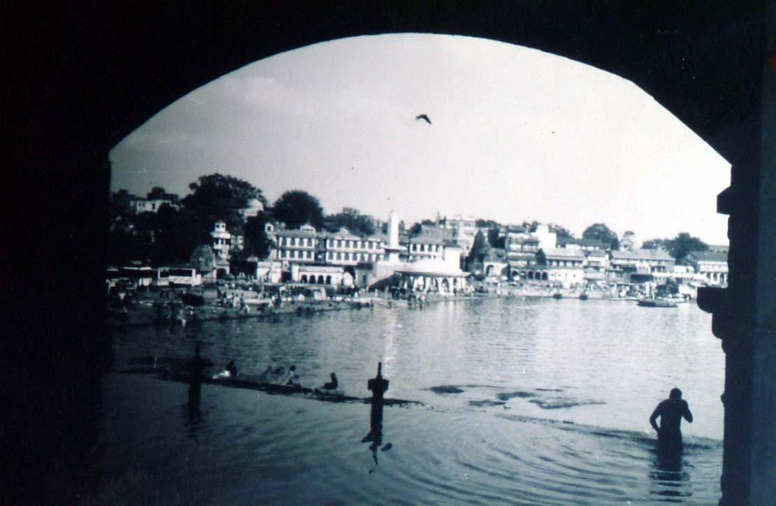 The famous Ganges ghat of Old Nashik.