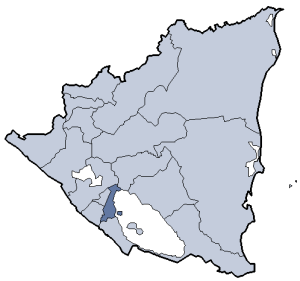 Location of Granada department
