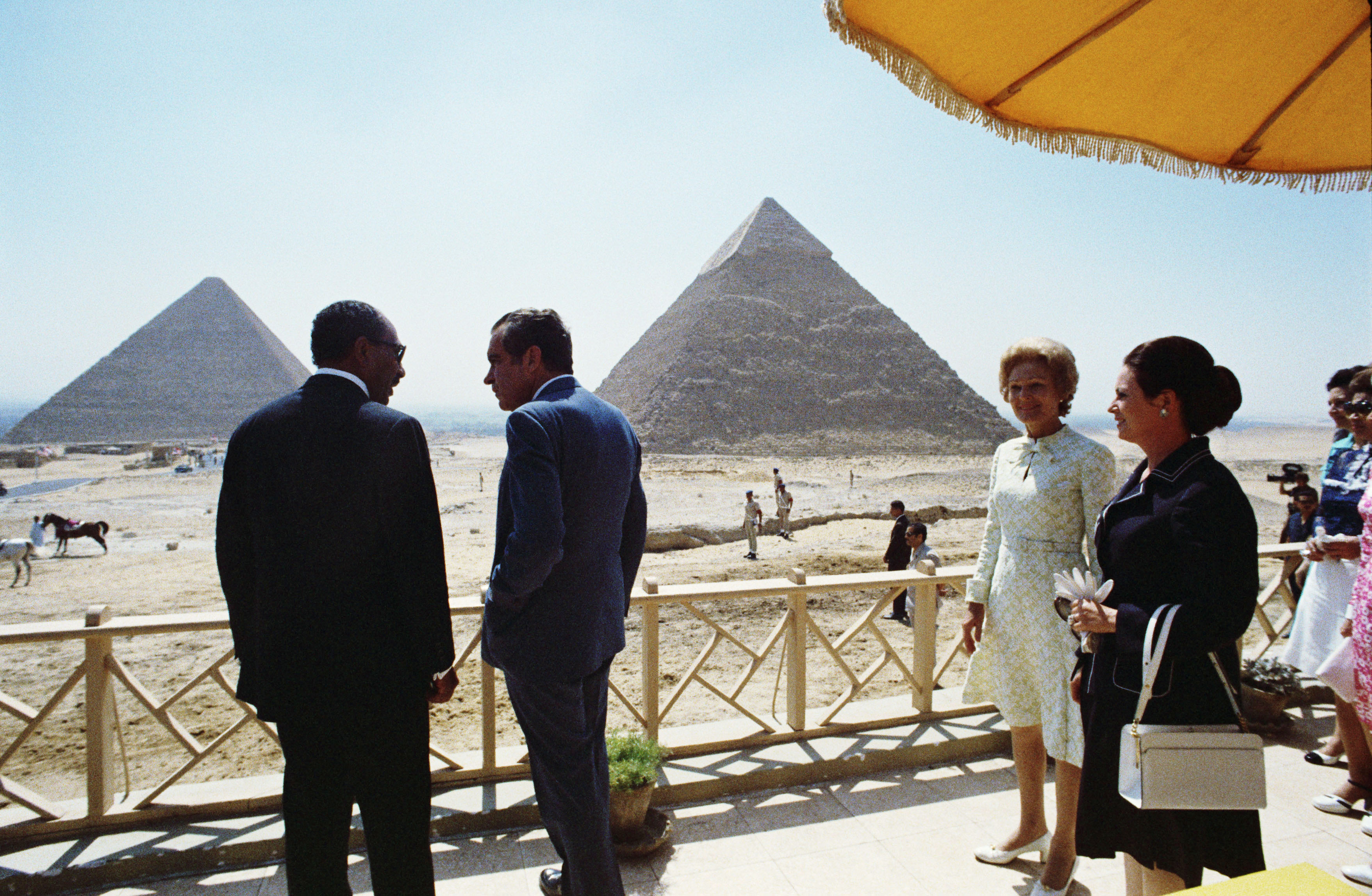 Nixon meets with President Anwar Sadat of Egypt, June 1974 Nixon Sadat.jpg