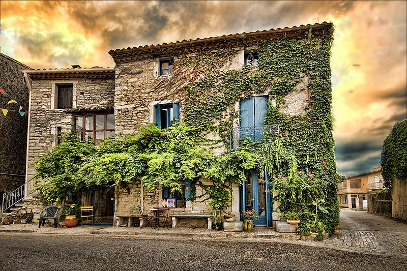 A fabulous roadside cottage, Les Cevennes hills.