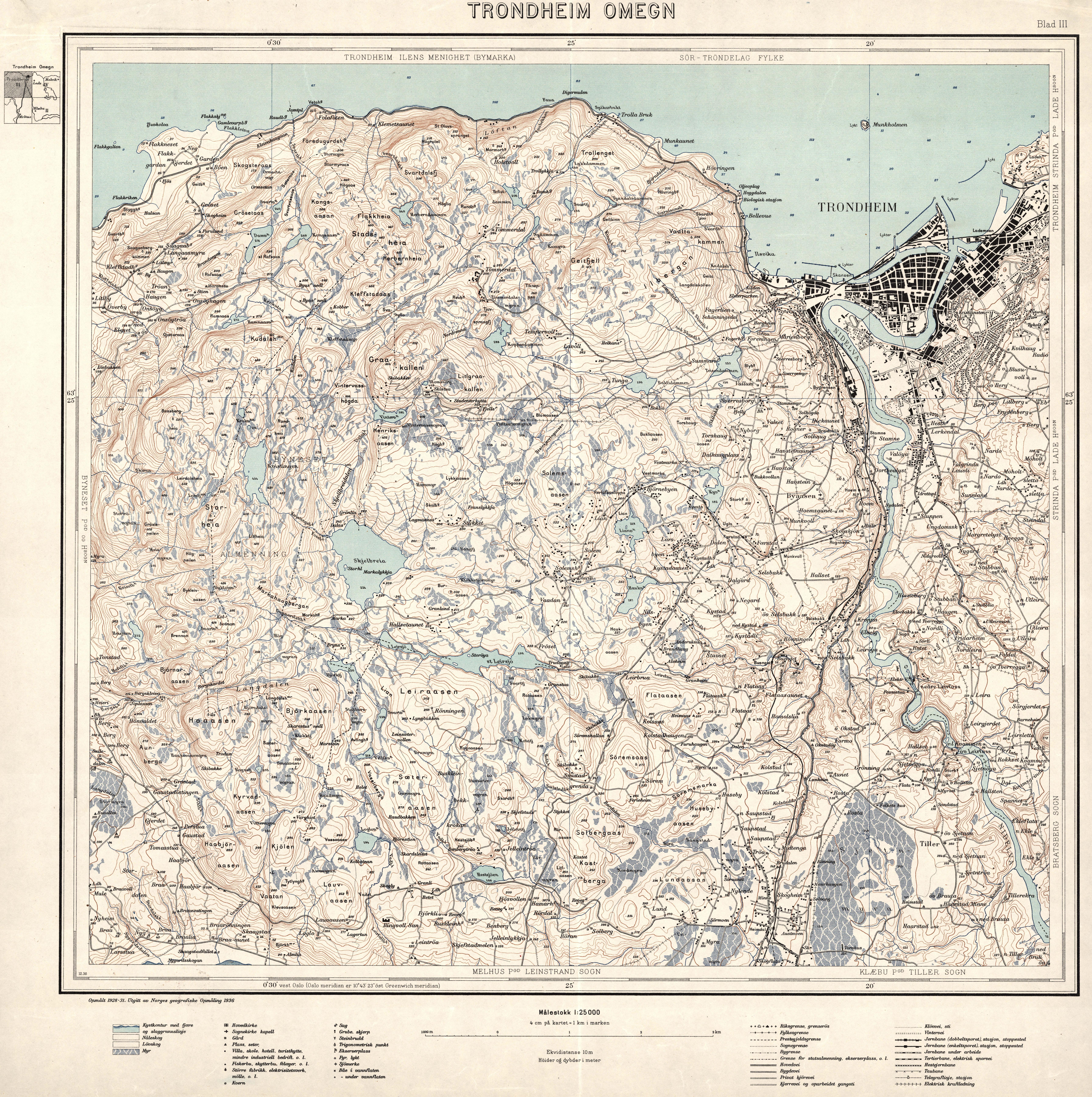 File Omegnskart Trondheim Omegn 3 1936 Jpg Wikimedia Commons