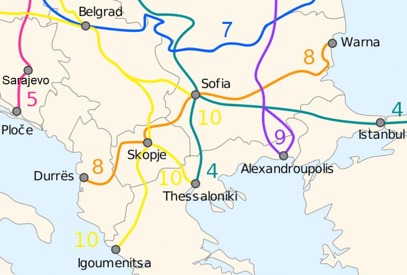 Bulgarien und die paneuropäischen Verkehrskorridore