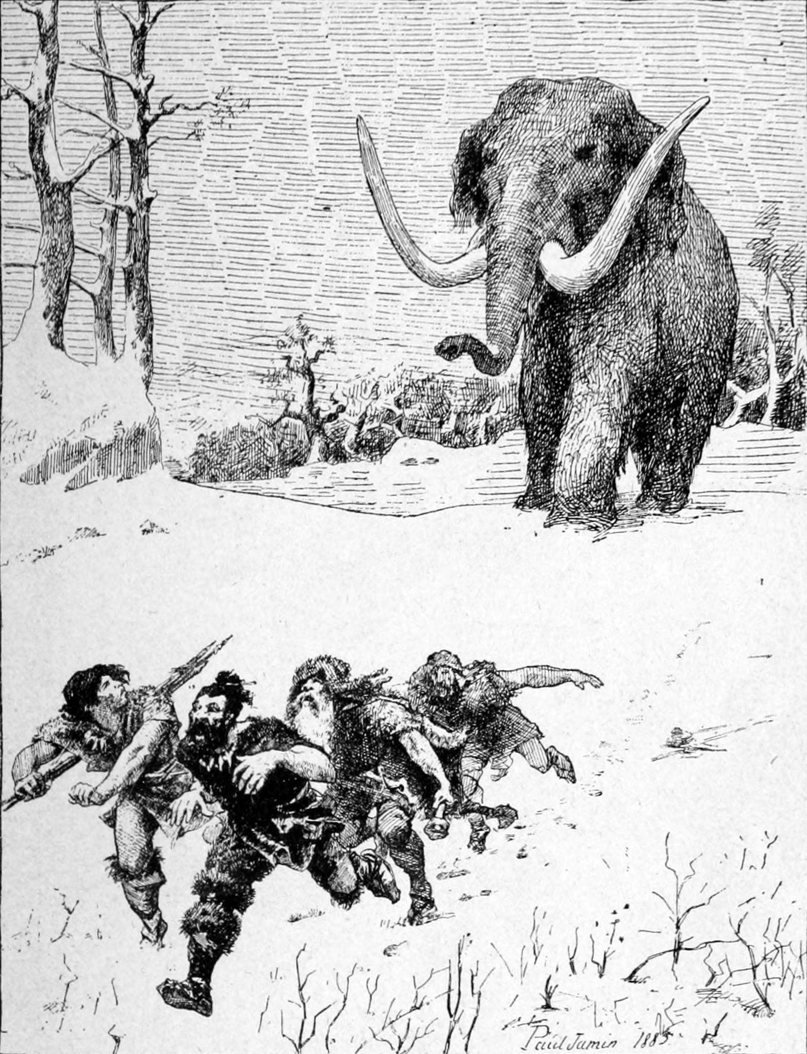l'image de l'homme préhistorique - Page 5 Paul_Jamin_-_Le_Mammouth