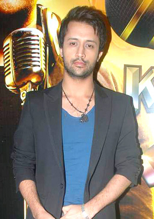 Photo Of Atif Aslam From The Himesh and Atif Aslam at the launch of Sahara One's new show