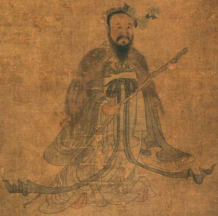 Qu Yuan Dragon Boat festival By Chen Hongshou (1598-1652)