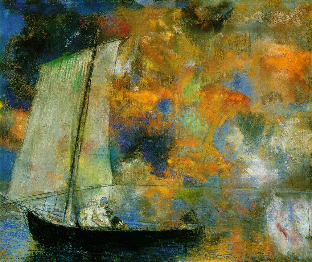 Odilon Redon Redon.flower-clouds