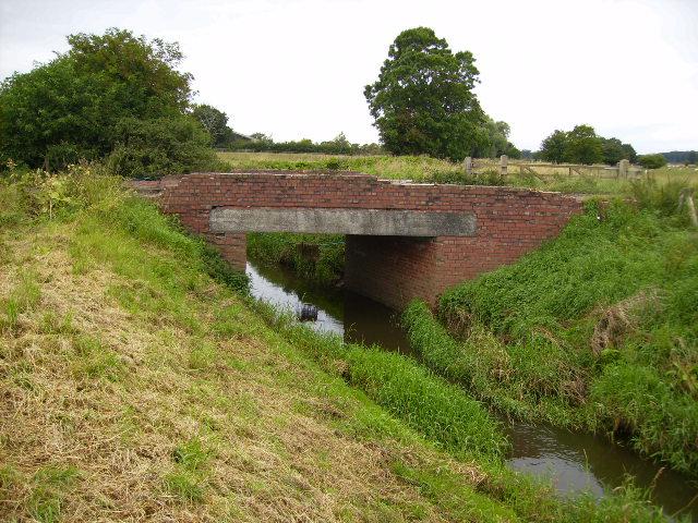 River Foss bridge on track near Brownmoor Farm - geograph.org.uk - 526325