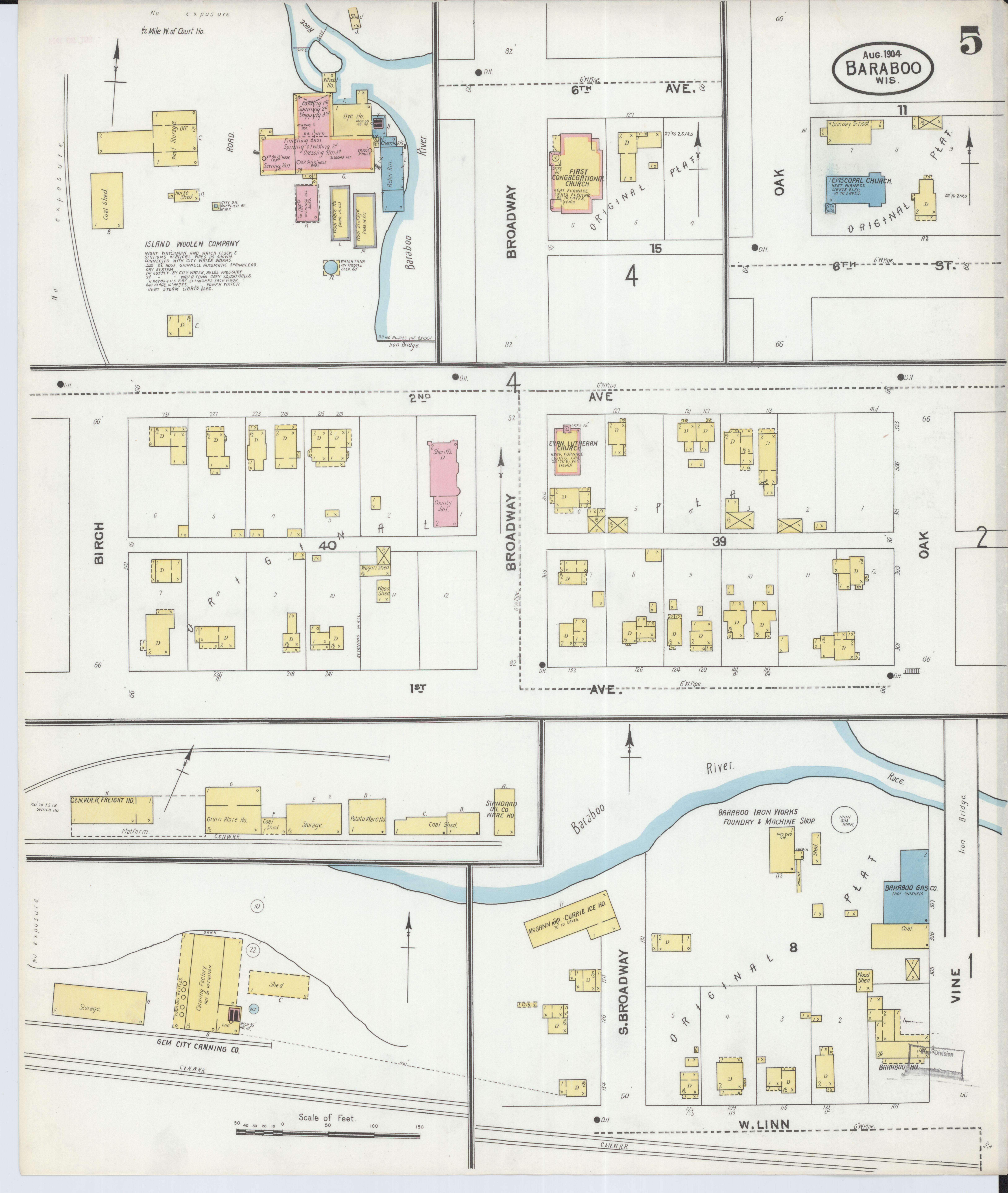 File Sanborn Fire Insurance Map From Baraboo Sauk County Wisconsin