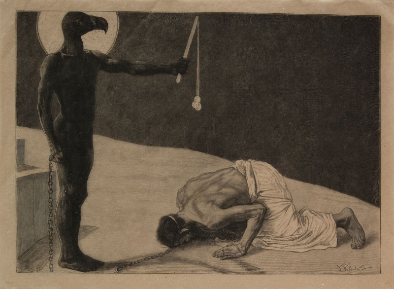 Sascha Schneider Der Mammon und sein Sklave