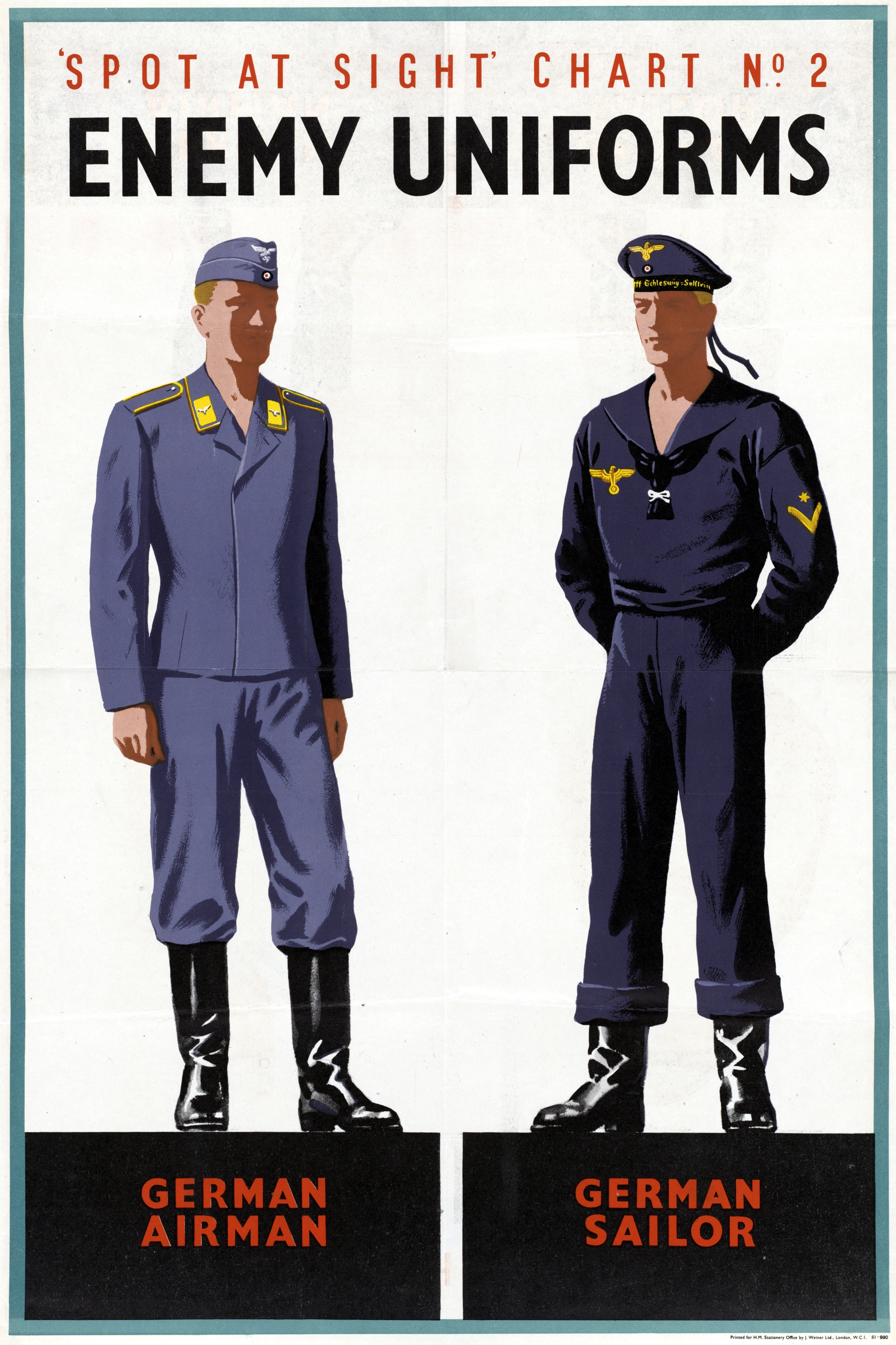 2014 Military Pay Chart: Spot at Sight Chart Number Two - Enemy Uniforms Art ,Chart