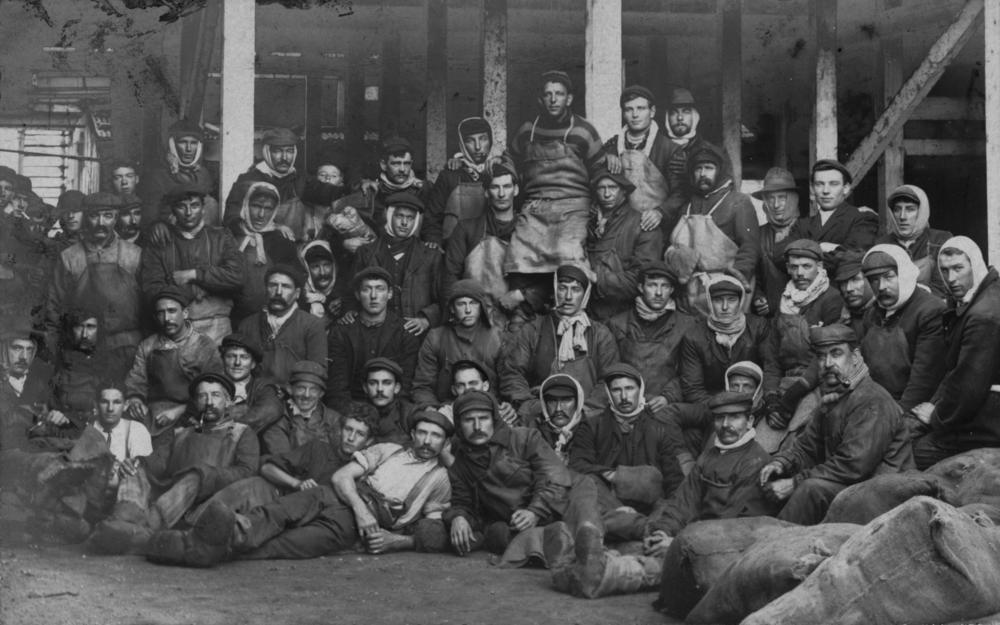 File:StateLibQld 1 123397 Cold Storage Workers At The Redbank Meatworks,  Ca. 1900