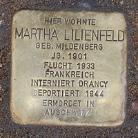 Stolperstein Kybitzstr 6 Martha Lilienfeld