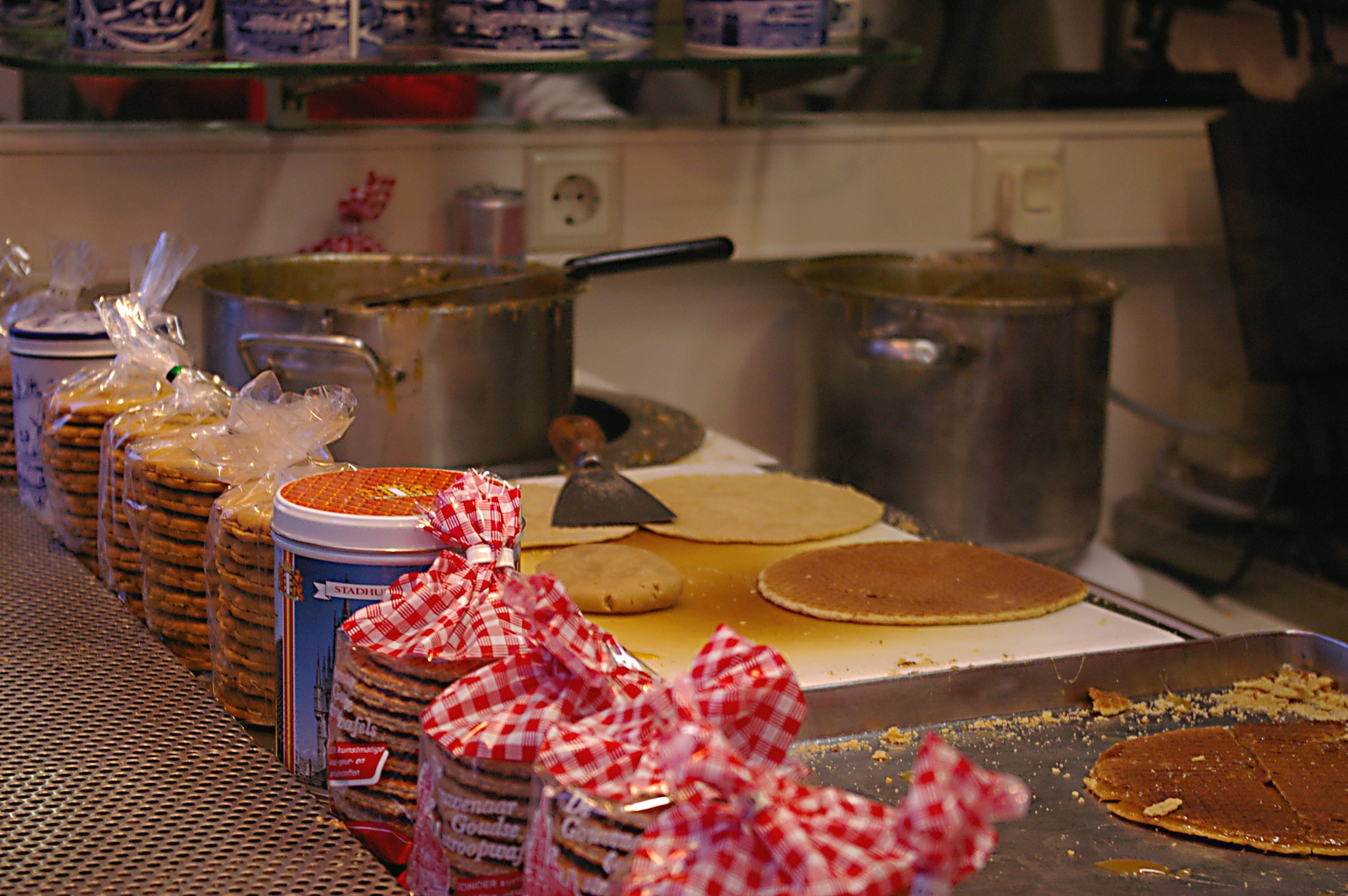 Stroopwafels, must-try street food in Amsterdam.