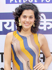 Taapsee Pannu endorses a cashless economy by supporting the 'Remonetise India' campaign (cropped).jpg