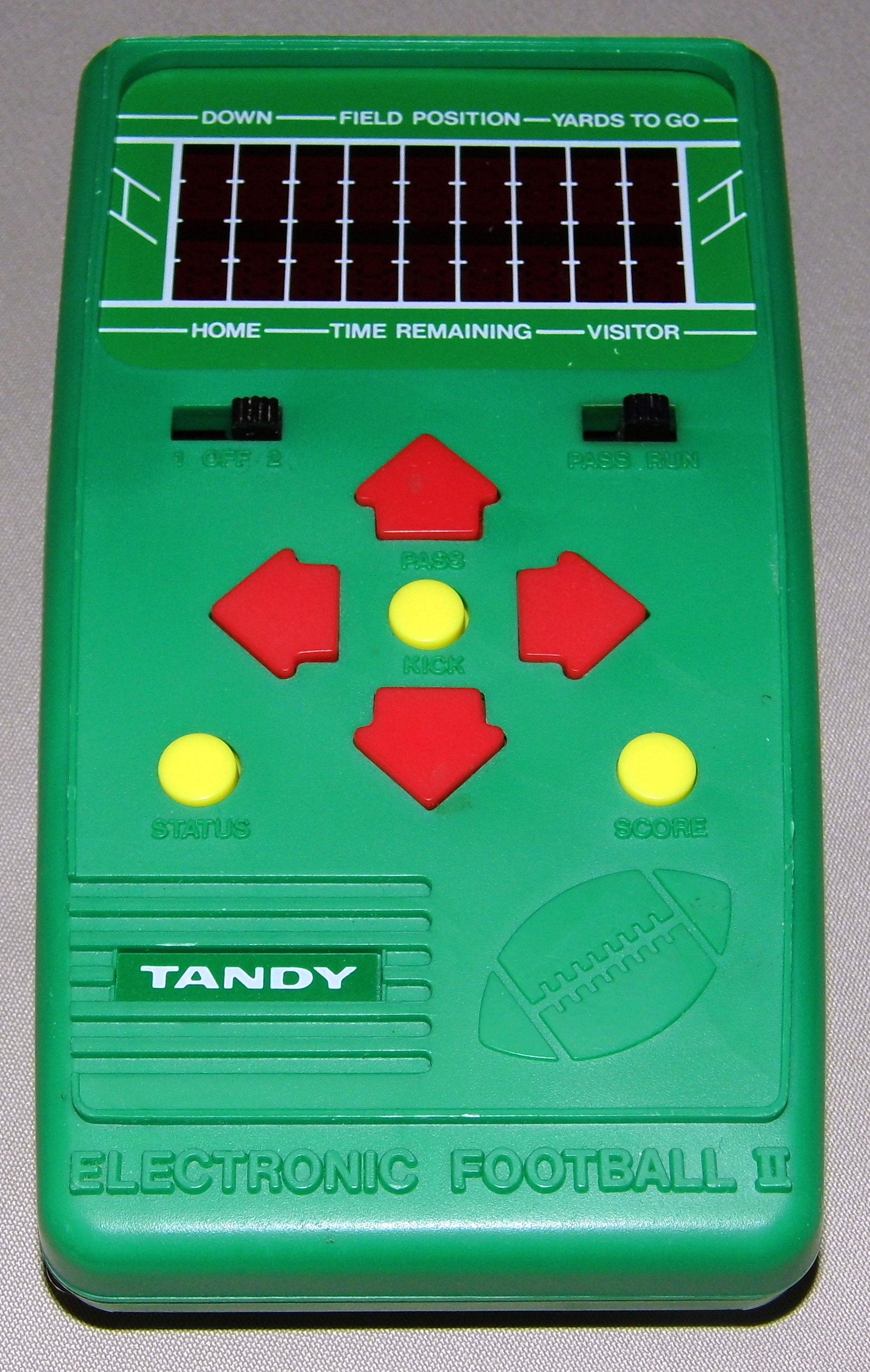 File:Tandy Electronic Football II, Made in Hong Kong, Sold Through Radio Shack, Catalog No. 60