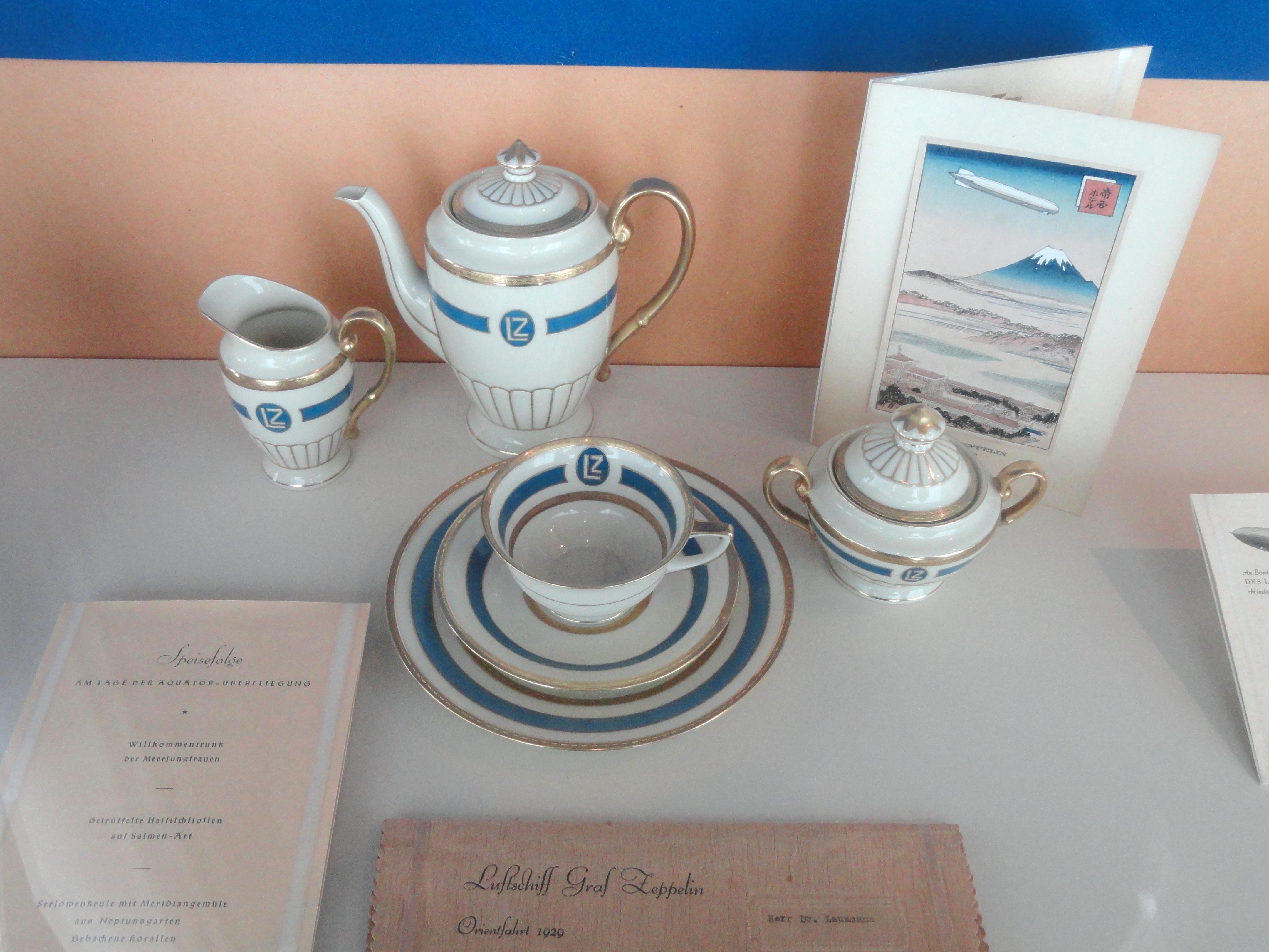 Чайный набор с борта цеппелина «Гинденбург»