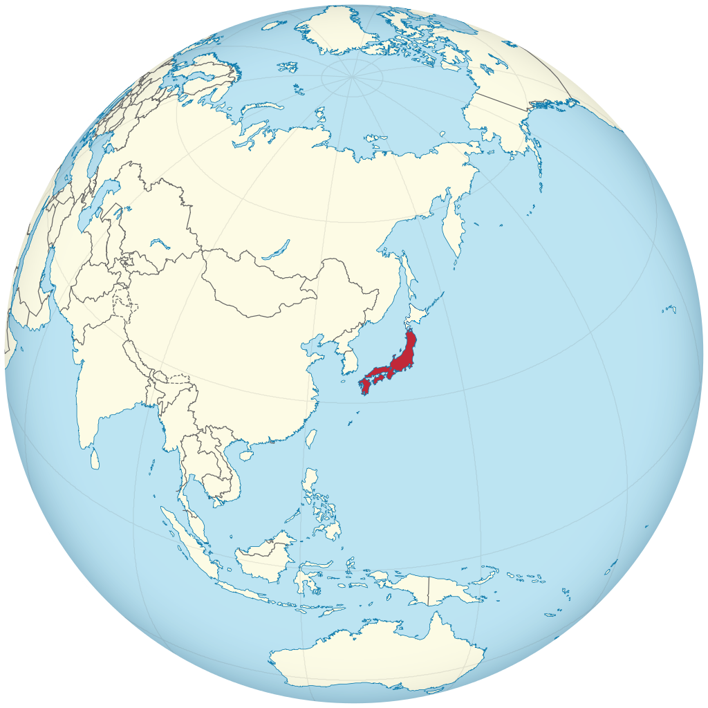 Mapa Japonska