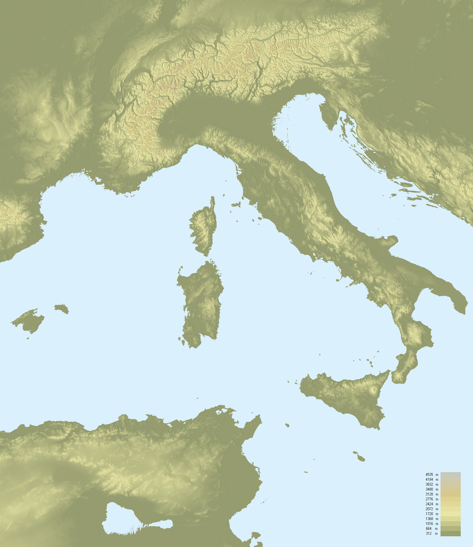 FileTopographic Map Of Italyjpg Wikimedia Commons - Topographical map of us of 1783