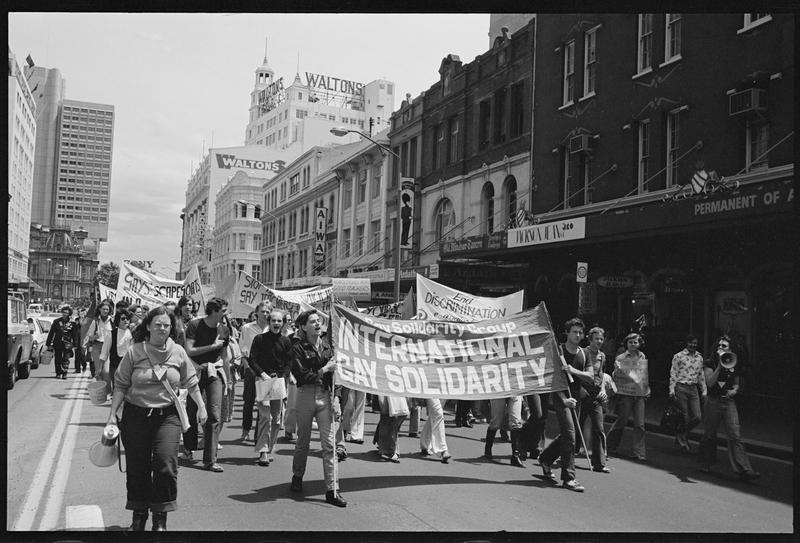 Desfile del orgullo gay en Sydney en 1978