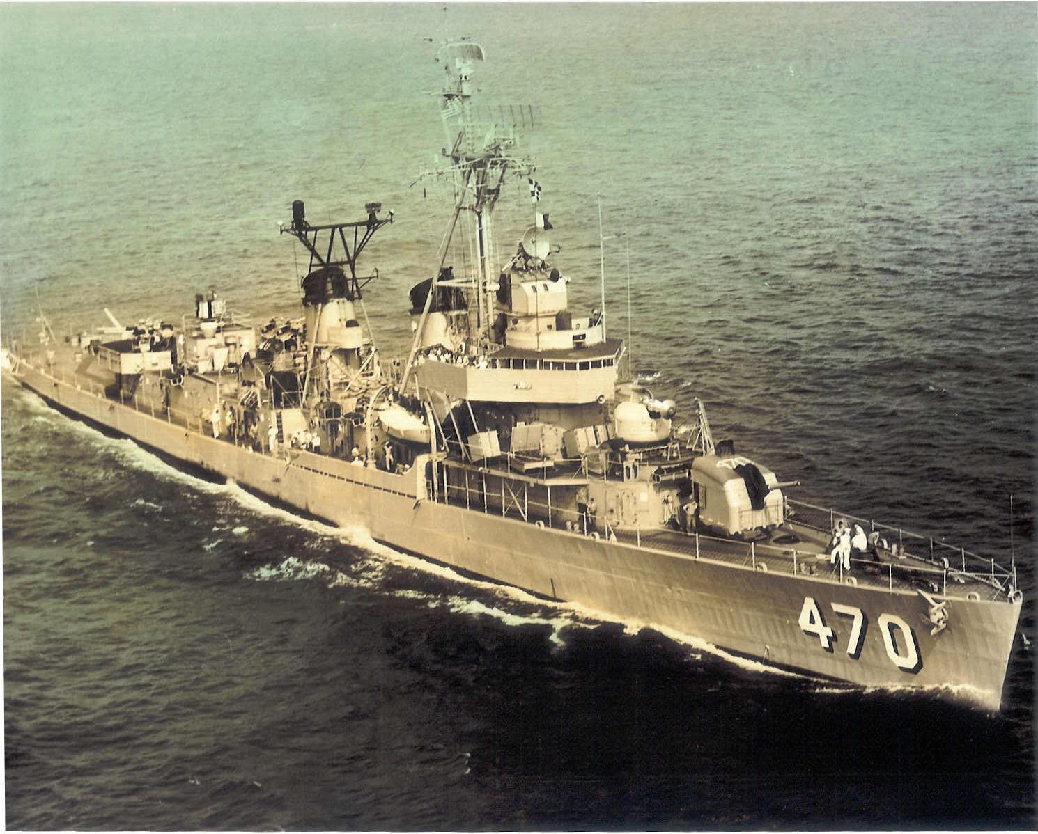 USS Bache at sea
