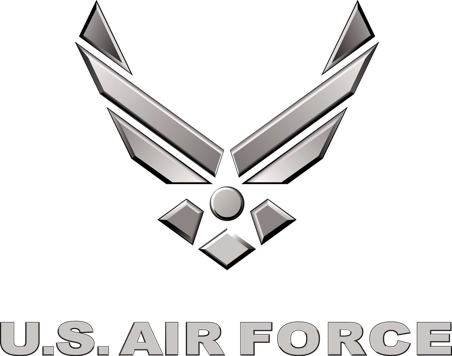 Fileus air force logo silverg wikimedia commons fileus air force logo silverg voltagebd Images