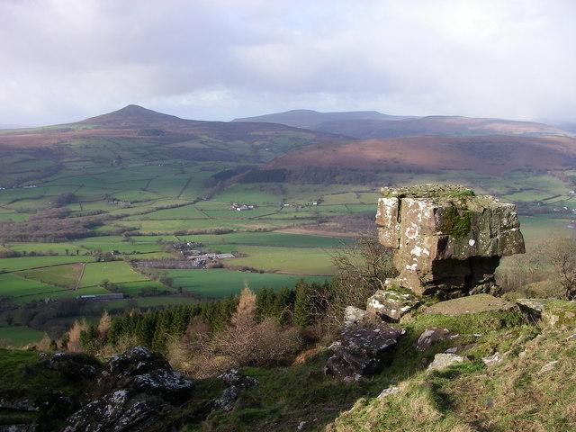 View from landslip on Ysgyryd Fawr towards Sugarloaf - geograph.org.uk - 338572