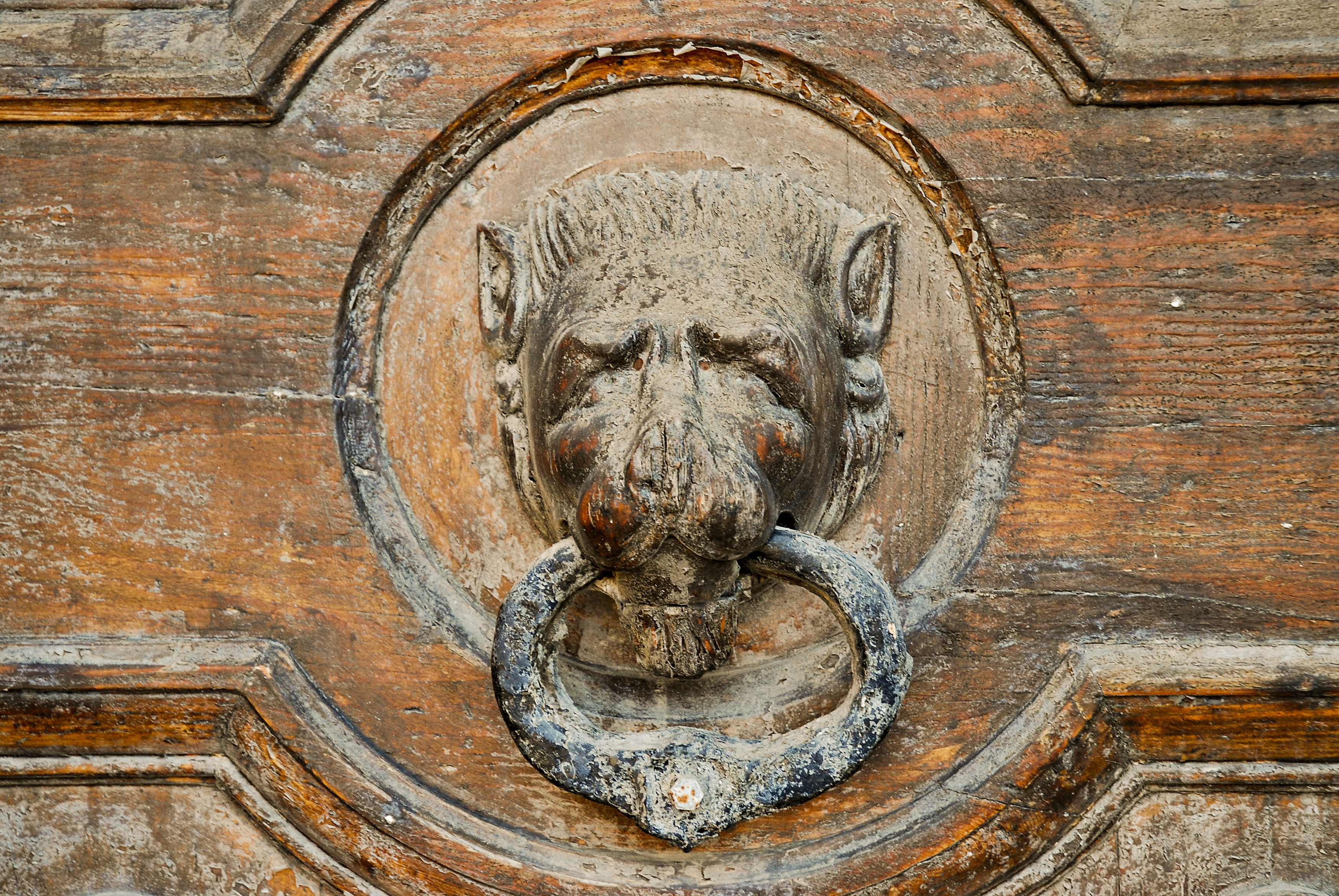 File:Vintage Door Knocker. Valletta, Malta, Mediterranean Sea