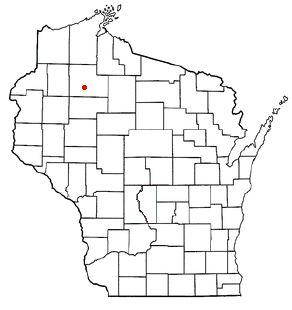 Location of Radisson (town), Wisconsin